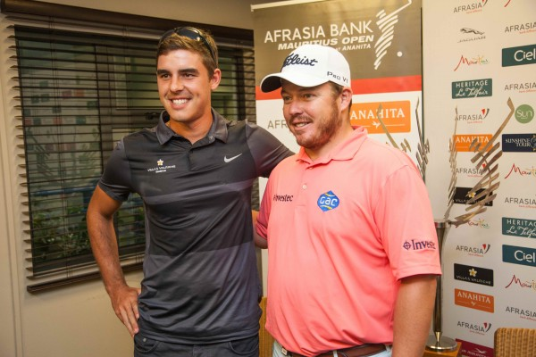 Ludovic Bax and defending champion George Coetzee[1]